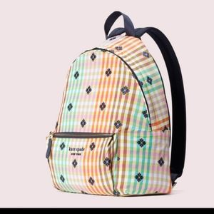 KATE SPADE Multi-Colored Plaid Backpack